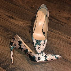 Who what wear floral heels 8